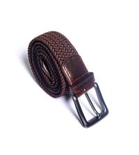 ceinture tresse- marron
