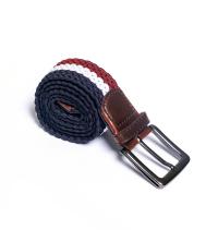 ceinture tresse- bleu/blanc