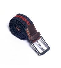 ceinture tresse- bleu/brd