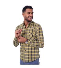 chemise flanelle - jaune