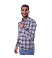chemise flanelle - gris