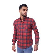 chemise flanelle -rouge