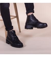 Boots LC 131 - Lacets - Cuir - Noir
