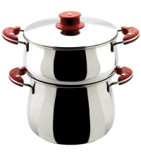AMS COUS. COMP. BOMBE T. FOND INOX 18/10- 6.5LT IDEAL COOK- ROUGE XK7630ICBR
