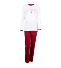 SECRET INTIME: SECRET INTIME pyjama 2 pièces coton détail strass st01pl/st01pt