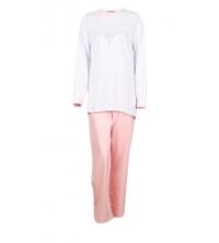 SECRET INTIME pyjama 2 pièces coton détail strass st01pl/vr02pt
