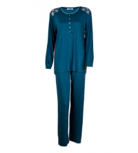 SECRET INTIME: SECRET INTIME pyjama 2 pièces total look viscose et dentelle sd06pl/sd01pt/B