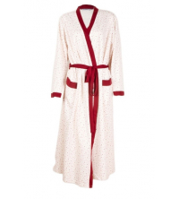 SECRET INTIME: SECRET INTIME robe de chambre imprimé coton avec poches vr01ds/F