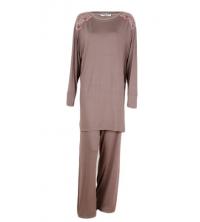 SECRET INTIME pyjama 2 pièces viscose et dentelle tm01pl/nc01pt/T