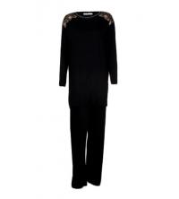 SECRET INTIME pyjama 2 pièces viscose et dentelle tm01pl/nc01pt/N