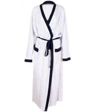 SECRET INTIME: SECRET INTIME robe de chambre imprimé coton avec poches vr01ds/B