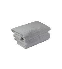 GRAND DRAP EPONGE Blanc CASHMIRE-BlANC 100/150 cm