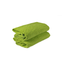 GRAND DRAP EPONGE Vert CASHMIRE-VERT 100/150 cm
