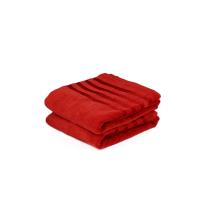 DRAP DE BAIN EPONGE Rouge VELOUR-RED 70/140 cm
