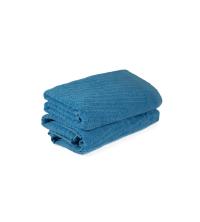 SERVIETTE EPONGE Turquoise WAVE-TURQUOISE 50/80 cm