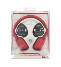 Bluetooth + filaire casque rouge