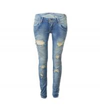 MOZZAAR: MOZZAAR Pantalon Jean Bleu Clair C505