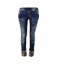 MOZZAAR: MOZZAAR Pantalon Jean Bleu C293