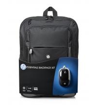 HP Kit Sac à dos + souris d'ordinateur Noir E5L03AA