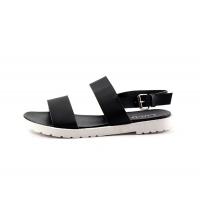 LU LU Sandale plat Noir - AY1605-2N