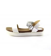 LULU Sandale plat Blanc/Argenté - AG14299-14-W/S