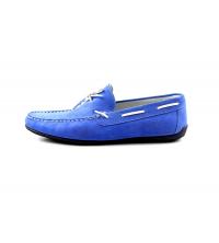 Mocassin à lacet Bleu - 5000-BD
