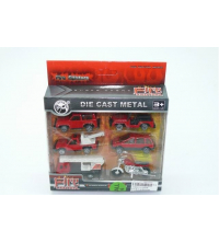6PCS METAL FIRE RESCUE PLAY SET