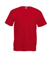 FRUIT OF THE LOOM: FRUIT OF THE LOOM TEE SHIRT ROUGE