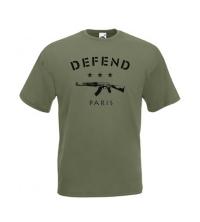 Tee-shirt Vert kaki DEFFEND PARIS - 061-037-O