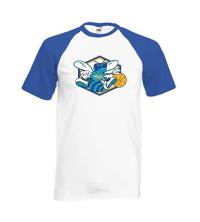Tee-shirt BASEBALL BLEU - 061-027-BL