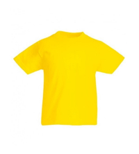 FRUIT OF THE LOOM T-SHIRT JUNIOR JAUNE
