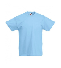 FRUIT OF THE LOOM T-SHIRT JUNIOR BLEU CIEL