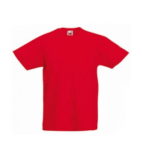 FRUIT OF THE LOOM T-SHIRT JUNIOR ROUGE