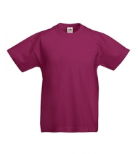 FRUIT OF THE LOOM T-SHIRT JUNIOR ROUGE BORDEAUX
