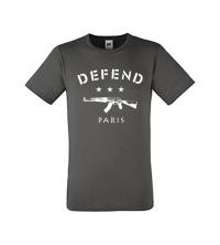 Tee-shirt GRIS DEFFEND PARIS - 061-037-GRI