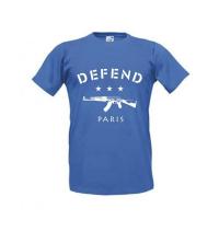 Tee-shirt Bleu DEFFEND PARIS - 061-037-M