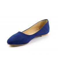 Ballerine femme daim Bleu