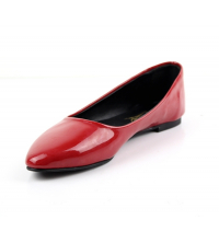 Ballerine femme vernis Rouge