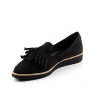 Chaussure femme daim Noir