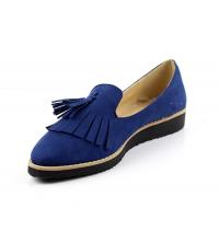 Chaussure femme daim Bleu