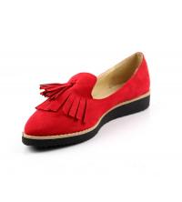 Chaussure femme daim Rouge