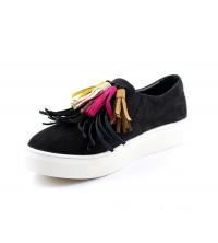 ROSACE: Chaussure femme daim Noir