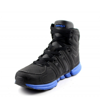 OWUNDY'S: Basket Homme Noir et Bleu