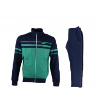 BILLCEE MEN'S KNITTED TRACKSUITS TEAM Vert /Bleu Marine 51M8010-F92