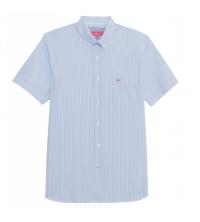 VICOMTE A: chemise palm beach bleu ciel