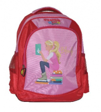 Gemus: Sac à dos GEMUS 103 Kid's World Blondy ROSE / ROUGE 25X12X35CM - Spécial lycéen