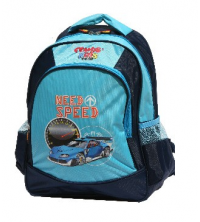 Gemus: Sac à dos GEMUS 103 Kid's World Need Speed BLEU MARINE 30X14X40CM - Spécial lycéen