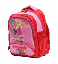 Gemus: Sac à dos GEMUS 104 Kid's World Blondy ROSE / ROUGE 25X12X35CM - Spécial lycéen