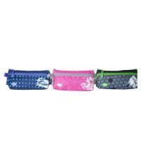 Trousse Scolaire GEMUS TR006 -Vert,Rose et Bleu 23X8X11CM