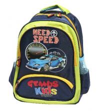 Sac à dos GEMUS Kid's World Need Speed VERT/BLEU - Spécial Maternelle